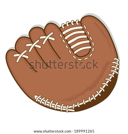 Baseball glove or mitt vector on a transparent background