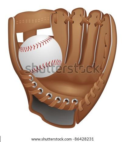 Baseball Glove Vector - stock vector