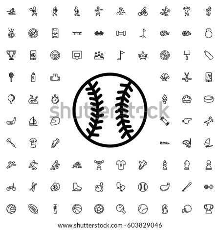Baseball icon illustration isolated vector sign symbol. sports icons vector set.