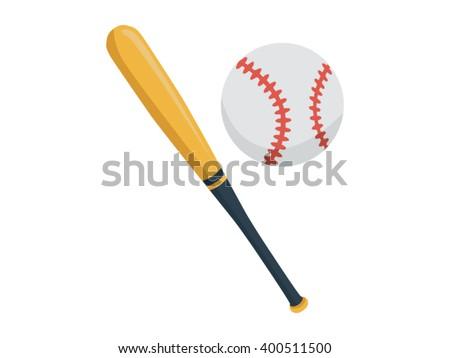baseball illustration   flat