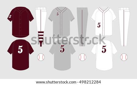 Baseball Jersey Vectors - Download Free Vector Art, Stock Graphics ...