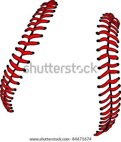 stock-vector-baseball-laces-or-softball-laces-vector-image
