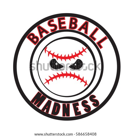 baseball madness vector