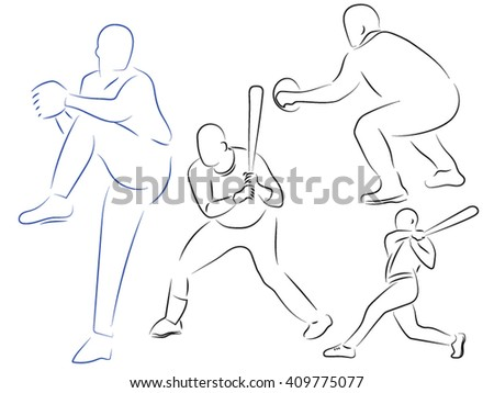 baseball, men with bats, throw