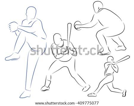 baseball, men with bats, throw