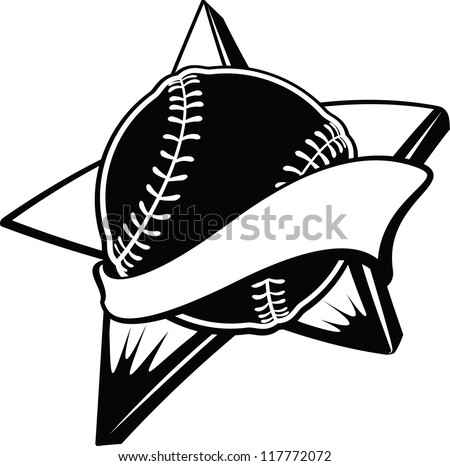 Baseball or Softball Star Banner