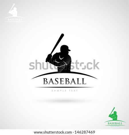 baseball player label   vector
