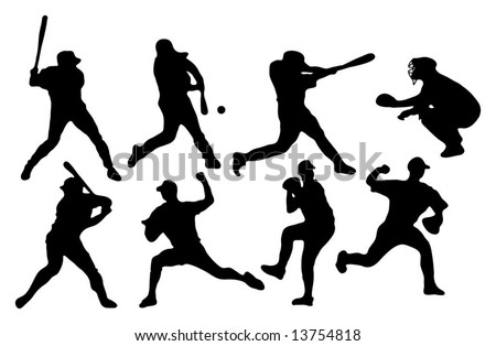 Baseball Players (Silhouettes)