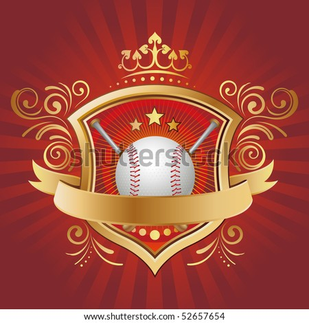 baseball,shield,crown,abstract background