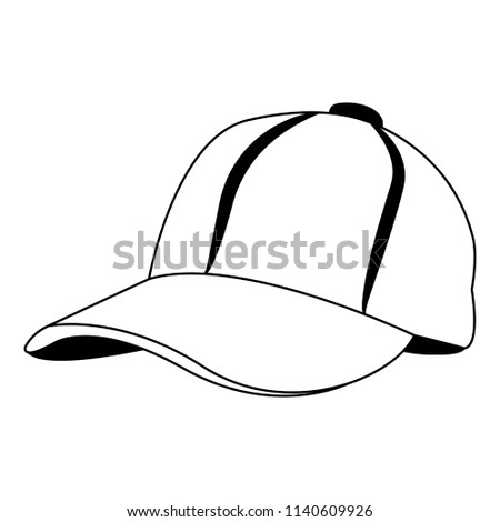 0eacd729222 Royalty-free Vector template of a baseball hat or…  41566957 Stock ...
