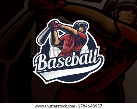 Baseball sport logo design. Modern professional baseball vector badge. Baseball player logo design vector template. Emblem design for sports team and competition