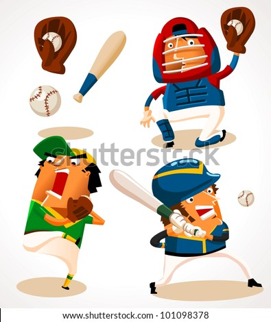 Baseball Sport Player. vector