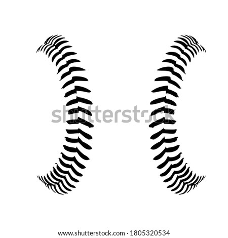 Baseball Stitches, Baseball lace ball illustration Vector Сток-фото ©