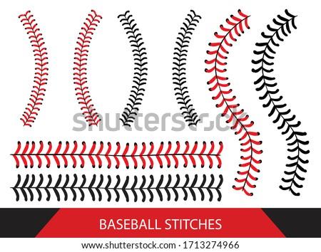 Baseball  Stitches  on a white background , vector design Zdjęcia stock ©