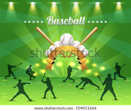 Baseball Theme Vector Design