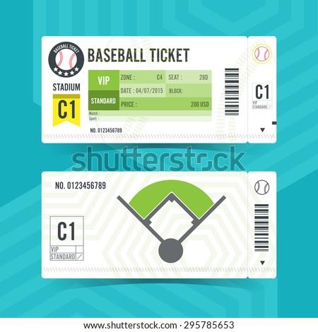 baseball ticket card modern