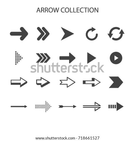 Basic arrow collection with elegant style vector