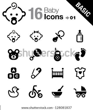 Basic - Baby icons - Shutterstock ID 128081837