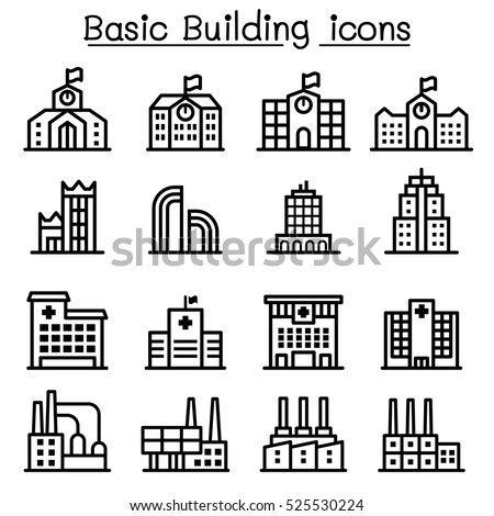 Basic building icon