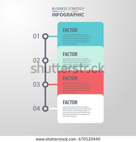 Basic Business Infographics, strategy, timeline, design template illustration. Vector eps10.