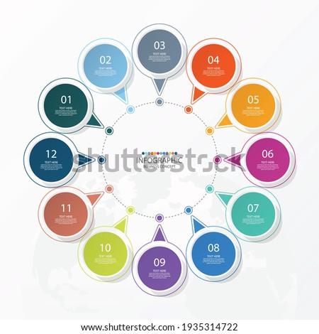 basic circle infographic