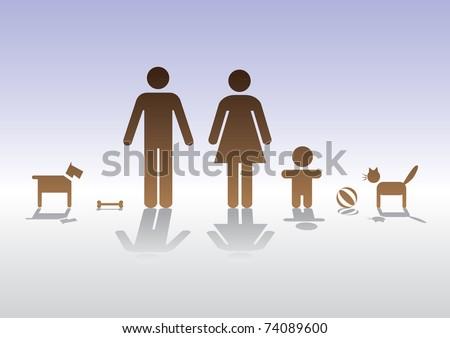 basic family man woman baby
