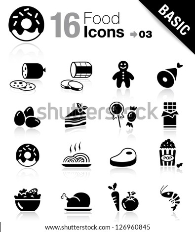 basic   food icons