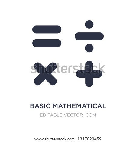 basic mathematical icon on white background. Simple element illustration from Signs concept. basic mathematical icon symbol design.