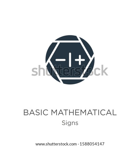Basic mathematical symbols icon vector. Trendy flat basic mathematical symbols icon from signs collection isolated on white background. Vector illustration can be used for web and mobile graphic
