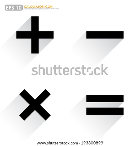 Basic Mathematical symbols on white background Stock photo ©