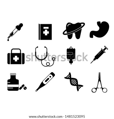 Basic medical vector icon set - Vector