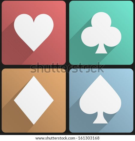 basic playing cards suit simple