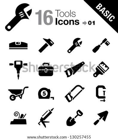 Basic Tools and Construction icons