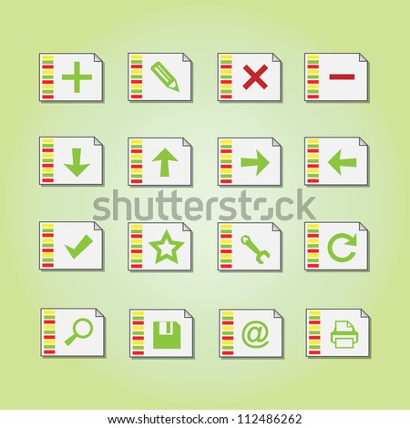 Basic vector icons - stock vector
