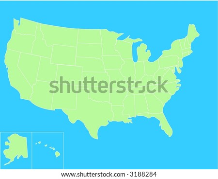 Basic vector map of the United States