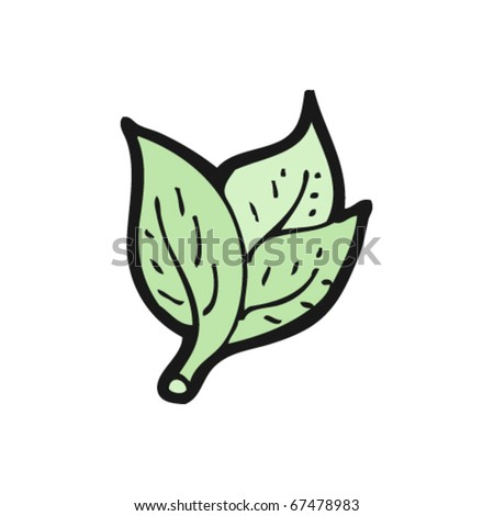 basil leaves cartoon