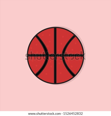 basket ball on pink background
