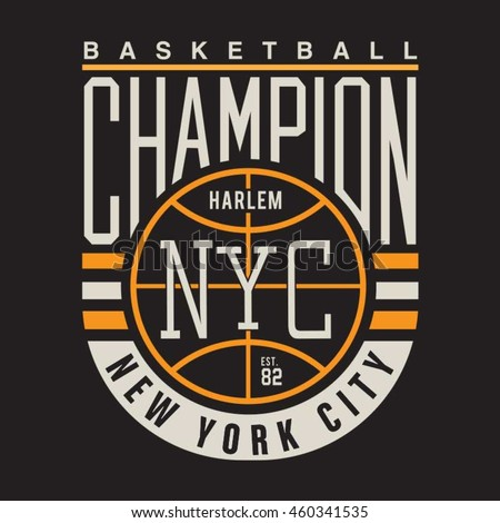 Basket ball sport typography, t-shirt graphics, vectors