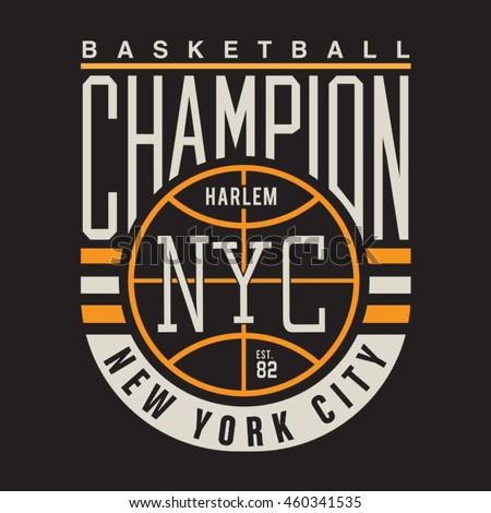 Basket ball sport typography, t-shirt graphics, vectors