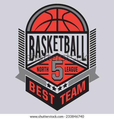 Basket ball typography t-shirt graphics vectors