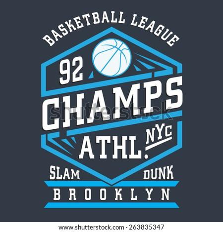 basket ball typography  t shirt