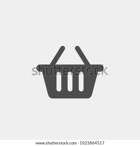 Basket flat vector icon. Buy flat vector icon. Market flat vector icon