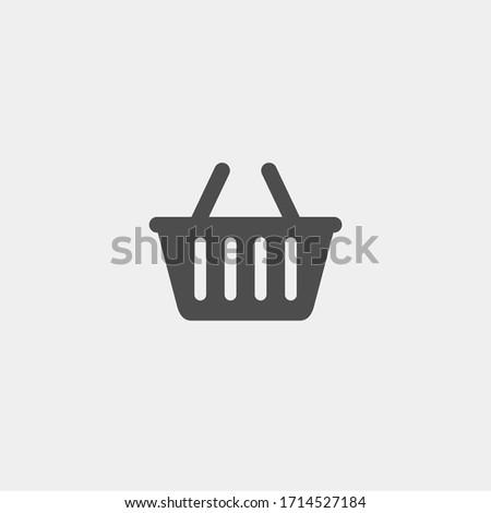 Basket flat vector icon. Buy flat vector icon. Market flat vector icon Stock photo ©