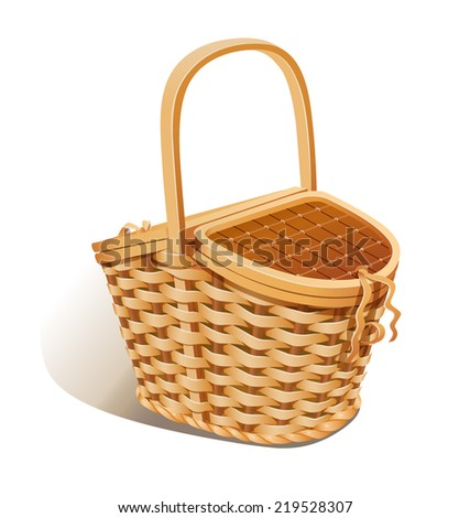 basket for picnic. eps10 vector ...