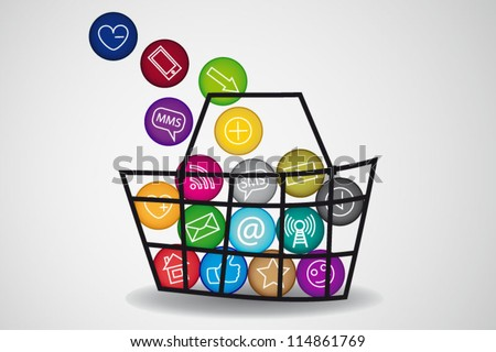 Basket of social media content