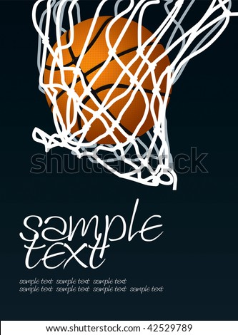 Basket 2 Vector Drawing