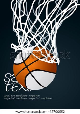 Basket 3 Vector Drawing - stock vector