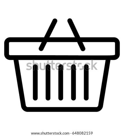 Basket Vector Icon Stock photo ©