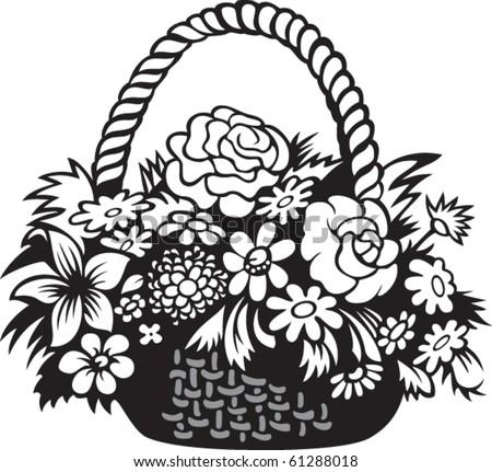 Черно белое букет цветов