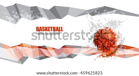 basketball abstract geometric
